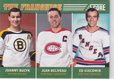 2012 12-13 Score Franchise Original Six Ed Giacomin/Jean Beliveau/Johnny Bucyk
