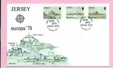 JERSEY QEII 1978 Post Office FDC - EUROPA - FORTS  - Special Handstamp