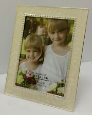 """NEW Mother of Pearl & Crystal decorative Wedding picture photo frame 5""""x7"""""""