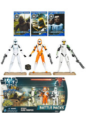 Star Wars Republic Clone Troopers Battle Packs Set Nuevo / Sellado