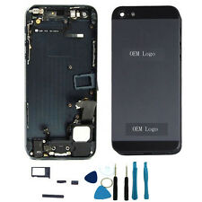 Black Complete Housing Back Battery Door Cover Mid Frame Assembly for iPhone 5
