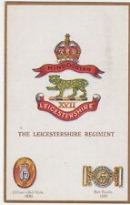 The Leicestershire Regiment G & P Military Crest Postcard #2, B583
