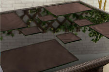 Brown lot de 4 sets de table outdoor alfresco imperméable jardin salle à manger lieu tapis