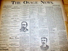 6 1888-89 newspapers OSAGE NEWS Iowa HARRISON v CLEVELAND Presidential Campaign