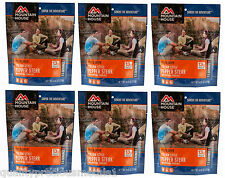 6  - Mountain House Freeze Dried Food Pouches - Italian Style Pepper Steak- New