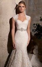 Mermaid White/Ivory Lace Wedding Dress Bridal Gown Size 4 6 8 10 12 14 16 18 +++