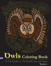 Owls Coloring Book In Family World Little Night  by Mi MR Smith -Paperback