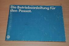 BA Bedienungsanleitung Betriebsanleitung VW PASSAT 1,3l Vergaser 1,6l Vergaser
