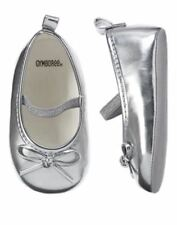 NWT Gymboree Cozy Critters Silver mary jane Crib Shoes Sz: 3