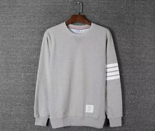 Thom Browne Long sleeve Gray Striped Sweatshirt  Size2(M)