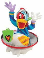 Disney by Romero Britto Donald Duck in Disc Sled Figurine Ornament 8cm 4046360