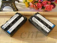 Two NP-F550 Battery for Sony NP-F330 NP-F530 NP-F570 NP-F730 CCD-TRV75 MVC-FD97
