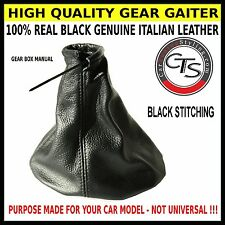 VAUXHALL OPEL HOLDEN COMBO BLACK STITCHING LEATHER GEAR SHIFT BOOT GAITER