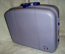 PURPLE Caboodles Large Cosmetic Case Mirror Make-Up Vintage