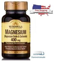Windmill Magnesium Oxide Carbonate Supplement 400 mg, 100 Tablets, ORIGINAL