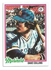 1978 Topps #254 Dave Collins Seattle Mariners