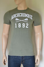 NEW Abercrombie & Fitch Fish Hawk Cliff Olive Lacrosse Vintage Tee T-Shirt XL
