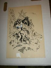 KEVIN RASEL 1993 Dragon Magazine Dark Wizard Original Comic Art Page