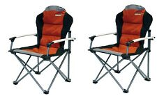 X2 (PAIR) Quest Comfort Plus Folding Padded Camping Chair - Paprika - 2016 Model