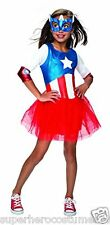 Avengers Captain America Dream Girl Costume Size Medium 8-10 NWT 620035 Rubies
