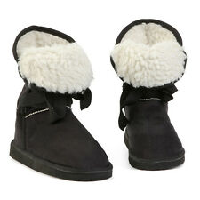 Women Ladies Flat Lace Up Fur Lined Winter Warm Boots Snow Ankle Booties Shoes