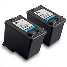 Recycled HP 56 Ink Cartridge C6656AN - PSC 1315 1317 1318 1350 2100 2110 2 Pack