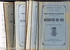 17 plaquettes distribution prix collège jeunes filles La Roche sur Yon 1913-1937