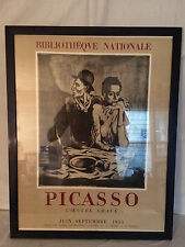 Vintage Picasso Art Exhibit Lithographic Poster - The Frugal Meal -1955