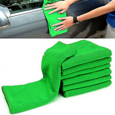 10PCS Green Microfiber Wash Towel Cleaning Auto Car Detailing Soft Cloths Duster