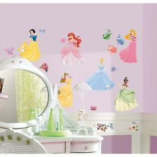 DISNEY PRINCESS 40 BiG Wall Stickers Room Decor Decals CINDERELLA ARIEL BELLE