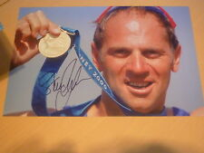 Firmato Sir Steve Redgrave 12x8 FOTO-cinque tempi OLIMPIADI CANOTTAGGIO ORO Medalist