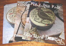 BLACKBIRD DESIGNS SEWING BOX SERIES SET OF THREE CROSS STITCH CHARTS LOT
