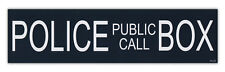 Bumper Stickers Decals: Police Public Call Box | Dr. Doctor Who British TV Show