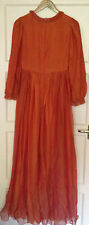 VINTAGE SPAGHETTI 70'S SILK CHIFFON MAXI DRESS