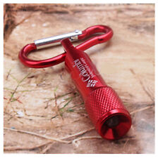 Red LED Flashlight Torch Clip Key Chain Carabiner Battery  Electronics Gadgets