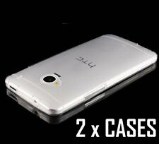 2 x Pieces - Transparent Clear TPU Rubber Soft Skin Case Cover for HTC ONE M7