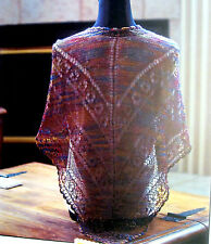 SUSAN'S LACE SHAWL by SUSAN MERIDITH for FIESTA YARNS - KNITTING PATTERN LEAFLET