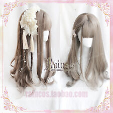 Harajuku Kawaii Japanese Sweet Lolita Gray Curly Long Cosplay Daily Hair Wig