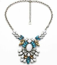 Luxury Crystal Rhinestone Flower Bib Chunky Statement Necklace Chain Jewelry P36
