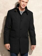 NWT Kenneth Cole New York Men's Coat XL Black Wool Blend MSRP $295