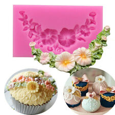 Daisy Flower Floral Swag Silicone Fondant Mould Cake Decorating Baking Sugar Mat
