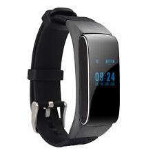 DF22 2-in-1 Handsfree Bluetooth Smart Bracelet Wristband Headset Earphone Black