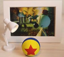 Wally B. Short Pixar Antena Ball & Looks like a Luxo Mini Led Lamp & postcard 2