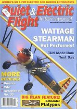 QUIET & ELECTRIC FLIGHT INTERNATIONAL MAGAZINE 2004 OCT WATTAGE STEARMAN, VITO