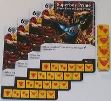 4 X SUPERBOY PRIME CLARK KENT OF EARTH PRIME 70/142 War Of Light Dice Masters DC