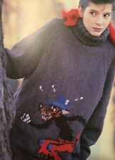 Disney Ladies Big Bad Wolf Sweater Knitting Pattern