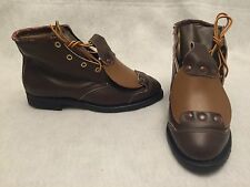 Vintage Hy-Test Anchor Flange Metatarsal Steel Toe Work Safety Boots Size 8 B