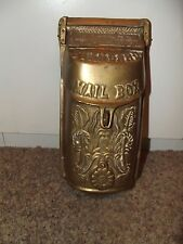 Victorian Ornate Mailbox Solid Brass Locking Wall Mount  Standard Antique