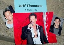 JEFF TIMMONS Autographed Photo & Photos of 98 Degrees -REAL HOT