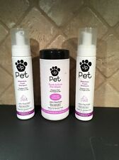 John Paul Mitchell Pet Products Lot Of 2 Waterless Shampoo & 1 Clean Mouth Wipes